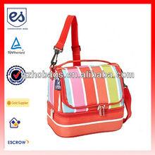 Wildkin Bright Stripes Double Decker Insulated Lunch Cooler Bag(HC-A211)