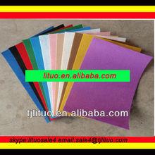 Coloured polyester felt