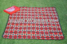 2013 new design fleece picnic blanket folding picnic mat custom printed camping mats