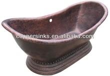 Copper bathtub