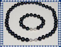 11-12mm necklace and bracelet set freshwater original pearl sets