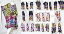 VTG retro HIPPIE BOHO handmade tie dye color tunic tent kaftan cover up dress