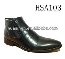 British middle cut style pointy toe shiny men leather dress shoes for 2013