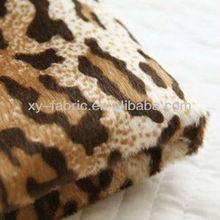 Professional factory making polyester animal print velboa called short pile fabric