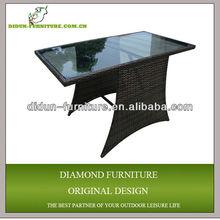 small wicker glass console table