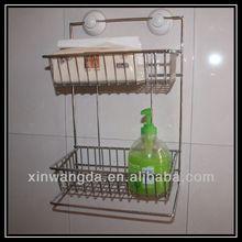 Kitchen suction cup organizer rack