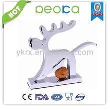 EU standard Zinc alloy Metal Sika Deer Shape Nut Cracker