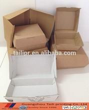 100% eco-friendly paper Hamburger Boxes/paper cardboard box hamburger/food packaging craft paper burger box