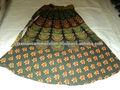 impresso saias longas indiana