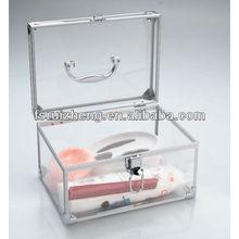Mini transparent clear acrylic vanity case RZ-C628