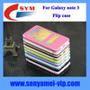 For samsung accessaries,case for galaxy note 3 flip case,for note 3 case cover with screen touch window