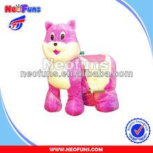Battery cars for children arcade game machine Pink mouse amusement rides machine zippy walking animal ride