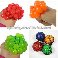 TPR infectious disease stress ball grape squash toys