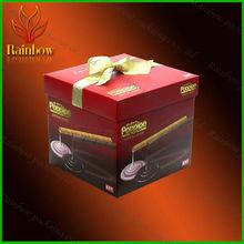 elegant design art paper box for chocolate snack packing