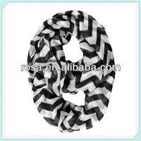 RWK7 Maggie Chevron Circle scarf fashion lady Chevron Infinity Scarf