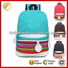 Fashion unique nylon teens school bag bag