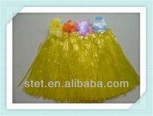 Wholesale yellow grass hawaiian hula skirts