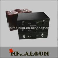 high class PU suitcase leather wholesale