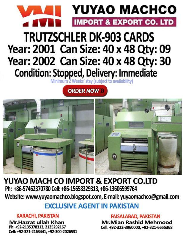 TRUTZSCHLER CARD DK 903