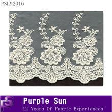 fancy cotton corded bridal mesh lace