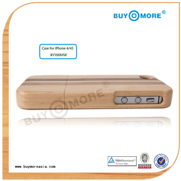 wholesale wood mobile phone case for iphone 4 with diy wooden case plus phone case wood