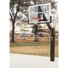 "Club Court Portable Basketball 36"" x 54"" Glass Backboard System"