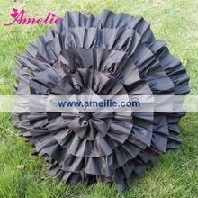 A0259 Cancan black parasol for sun or rain