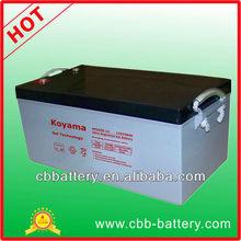 long life gel battery 12V250AH