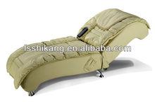 simple design leather back adjustable massage bed