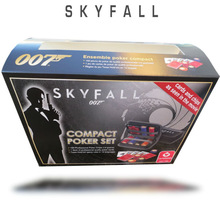 Travel set skyfall 150 poker chips 007 james bond jetons