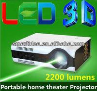 High Quality! 2200lumens LED Projector Portable LCD projectors multimedia digital Video mini projector