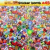 car full body vinyl sticker graffiti bomb car wrap made in china car vinyl rolls 152x3000cm A45