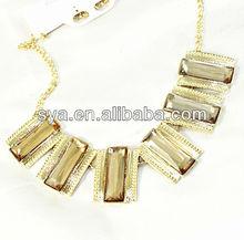 High fashion shinny stone hawaiian party necklaces