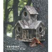 Stand wooden bird house