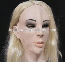 Latex Female Disguise Fancy Cross Dress Latex Fetish Woman Lady Female Mask for Men