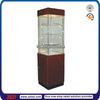 TSD-W460 Wood Revolving Jewelry Vitrine/lockable glass display cabinets/glass door cabinet