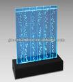 bolha de água de parede com luzes e controle remoto