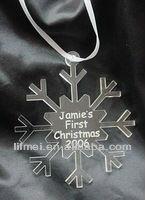 decorative clear acrylic christmas tree