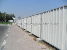 Corrugated Fencing in Dubai Qatar Oman UAE Fencing Sheet Fence Panels