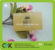 plastic glitter silver/gold vip card maker