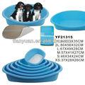 2014 plástico nuevo diseño de la cama del animal doméstico