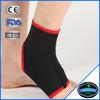 black binding elastic soft neoprene spandex ankle straps ankle brace