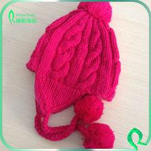 Handmade Thickening Earmuffs Children's Hat Fleece Earflap Crochet Winter Hat