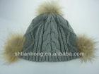 fashion high quality pom pom winter knitted wool hats
