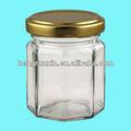 4 oz effacer verre octogonal pot pour confiture, Miel, Marmalade