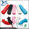 practical set!!! bulit-in motion plus remote joystick for wii with silicone case and wrist strip