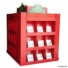Cardboard counter pop magazine floor display,floor display for book products, Retail Christmas gifts cardboard display showcase