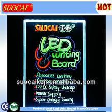 2014 New Shining Acrylic LED Writing Board Hanging Painting Display Board