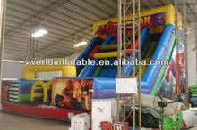 giant inflatable spiderman slide
