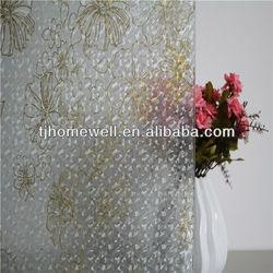 static cling vinyl film decorative window film adhesive remove glue from glass adhesive New design C003
